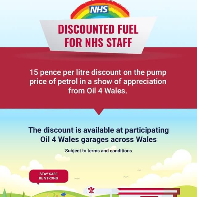 We are offering NHS discounts at Oil 4 Wales!