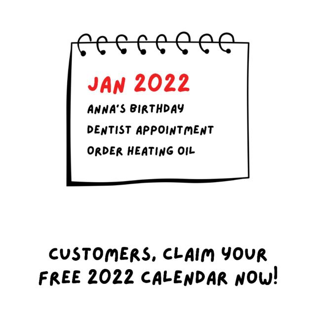 2022 Calendars FREE to Customers!